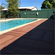 Good Times 5.580 x 2.232m Dark Brown Ekodeck+ Decking Kit - 10 Module