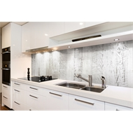 Bellessi 725 x 2440 x 6mm Polymer Motiv Textured Splashback - White Wash