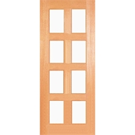 Woodcraft Doors 2040 x 820 x 40mm Kensington Clear Safety Glass Entrance Door