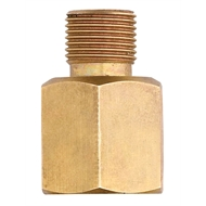 Gasmate Brass Gas Adaptor Converts BBQ Inlet from 1/4in to 3/8in