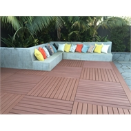 Good Times 6.696 x 2.232m Dark Brown Ekodeck+ Decking Kit - 12 Module