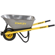 Stanley 100L Industrial Steel Tub Wheelbarrow