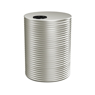 Kingspan 8000L Round Steel Water Tank - 2400mm x 1860mm Shale Grey