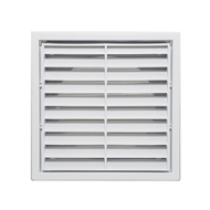 Builders Edge 100mm White Grill Vent with Insect Screen