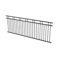 Protector Aluminium 2450 x 900mm Double Top Rail 2 Up 2 Down Fence Panel - Monument
