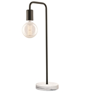 Brilliant Matt Black Derby Metal Pipe Table Lamp