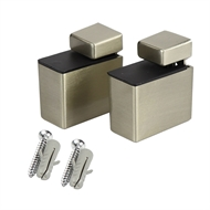 Flexi Storage Satin Nickel Recto Shelf Clip - 2 Pack