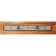 Woodcraft Doors 1800 x 400 x 40mm Antique Rose Glass Hi Lite