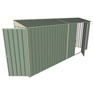 Build-a-Shed 0.8 x 4.5 x 2m Hinged Door Tunnel Shed with Single Hinged Side Door - Green