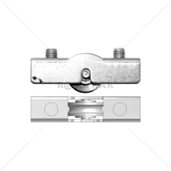 Rolltrak Spares Stainless Steel Window Carriage And Roller