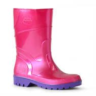 Bata Size 11 Pink / Purple PVC Kids Bubblegummer Gumboot