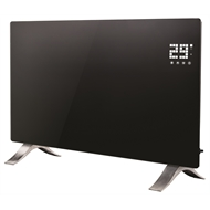 Euromatic 2400W Black LED Flat Glass Panel Heater