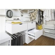 Flexi Storage 250 x 580 x 435mm White Single Drawer Unit