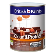 British Paints Clean & Protect 1L Low Sheen Mid Interior Paint