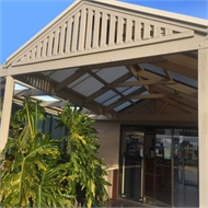 Softwoods 4.2 x 4.9m Suntuf Standard Gable Roof Pergola Kit