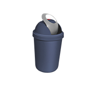 Willow 15L Blue Bullet Rubbish Bin