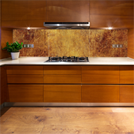 Bellessi  730 x 895 x 5mm Antique Copper Glass Splashback