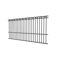 Protector Aluminium 2450 x 1800mm Custom Double Top Rail With Rings Pool Fence Panel