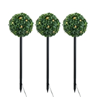 Verve Design Solar Topiary Trees - 3 Set