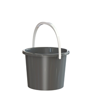 HomeLeisure 3L Charcoal Plastic Bucket