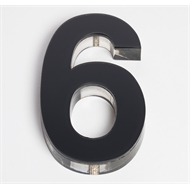 Sandleford 90mm 6 Black Acrylic Numeral