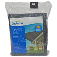 Coolaroo 3.6m Graphite Triangle Shade Sail