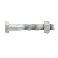 Zenith M6 x 40mm Hot Dipped Galvanised Hex Head Bolt And Nut