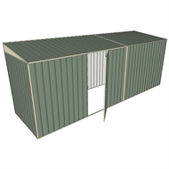 Build-a-Shed 1.5 x 5.2 x 2m Single Hinged Side Door Skillion Shed - Green