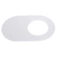 Kinetic 50mm White Oval Adhesive Cover Plate