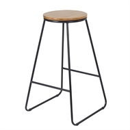 Marquee 42 x 42cm Black Industrial Bamboo Stool