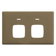 HPM LINEA Double Autoswitch Powerpoint Coverplate - Ninja Khaki