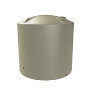 Melro 8000L Poly Round Water Tank - Smooth Cream
