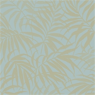 Graham Brown 52Cm X 10M Tropic  Aqua/Gold Wallpaper