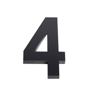 Sandleford 150mm 4 Black Acrylic Numeral