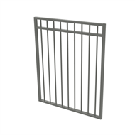 Protector Aluminium 975 x 1200mm Double Top Rail All Up Garden Gate - To Suit Gudgeon Hinges - Palladium Silver