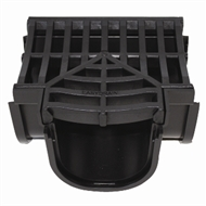 Everhard EasyDRAIN Black Polymer Tee Piece with Black Polymer Grate