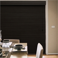 Windoware Bali Room Darkening Bamboo Roman Blind - 180mm x 210mm Black