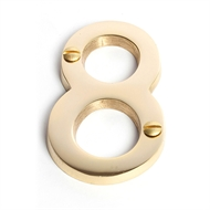 Sandleford 75mm Brass Numeral 8