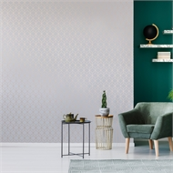 Superfresco Easy 52cm x 10m Myrtle Geo Grey Wallpaper