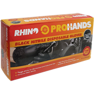 Rhino Gloves X Large Nitrile Disposable Gloves - 100 Pack