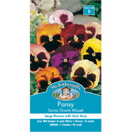 Mr Fothergill's Pansy Swiss Giants Mixed Flower Seeds