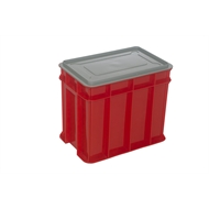 Award 9L Red Multistack Storage Crate With Lid