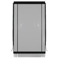 Bistro Blinds 90 x 240cm Clear PVC Black Trim Outdoor Blind