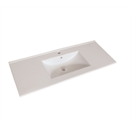 Mondella 1200mm Cadenza 1 Tap Hole Ceramic Basin Only