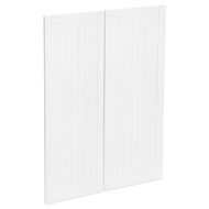 Kaboodle 900mm Vanilla Essence Country Medium Pantry Doors - 2 Pack