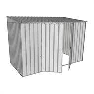 Build-a-Shed 3.0 x 1.5 x 2.0m Zinc Double Hinge Door Narrow Shed - Zinc