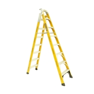 Gorilla 2.4 - 4.5m 150kg Industrial Fibreglass Dual Purpose ladder