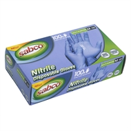 Sabco Medium Purple Nitrile Disposable Gloves - 100 Pack