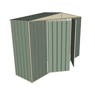 Build-a-Shed 3.0 x 0.8 x 2.3m Gable No Side Doors Shed - Green