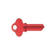 Ilco Red Aluminium WO2 Domestic Blank House Key